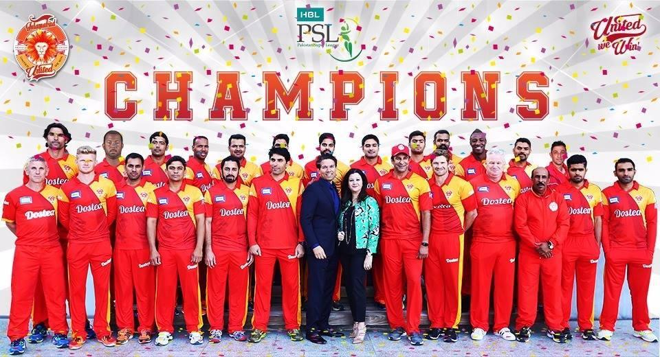 Islamabad United 1st Champion Of Pakistan Super League 2016