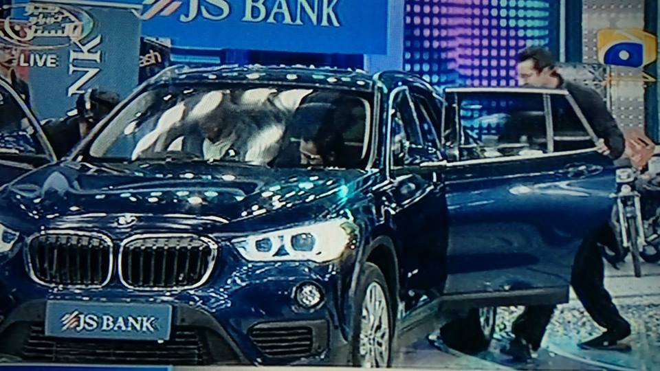 JS Bank Awarded BMW X1 Series Car To Sarfraz Ahmed