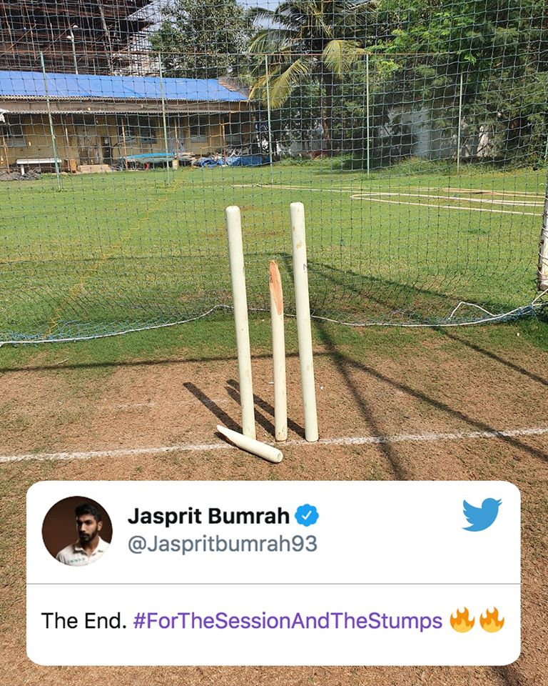 Jasprit Bumrah Ends His Session With Breaking A Stumps