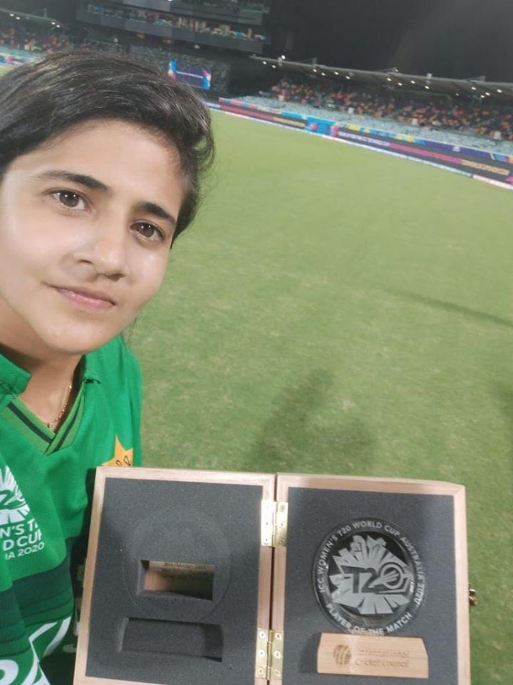 Javeria Khan Gets Player Of The Match Award