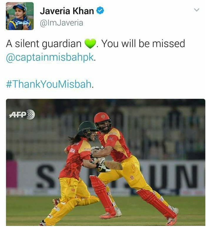 Javeria Khan Tweet About Misbah