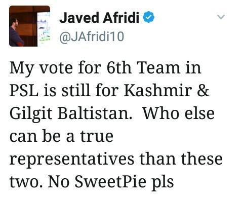 Jawed Afridi Tweet