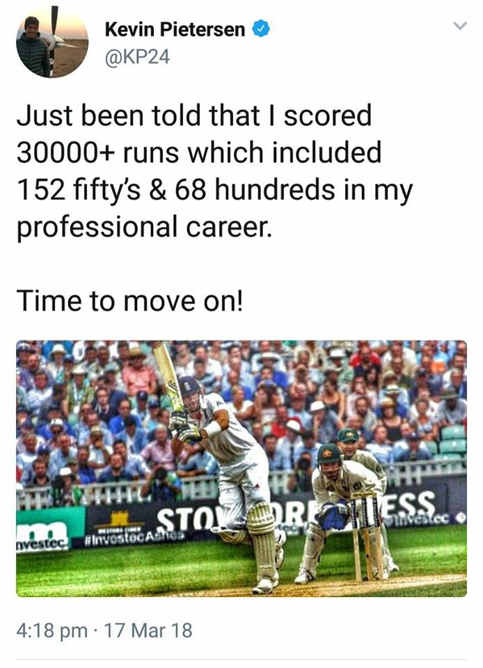 KP Announces His Retirement From Professional Cricket