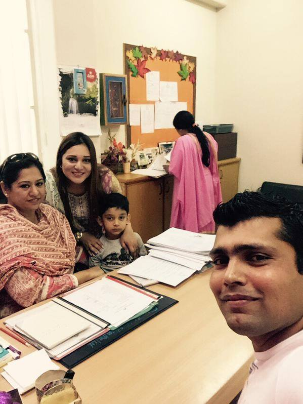 Kamran Akmal Admitted His Son in School