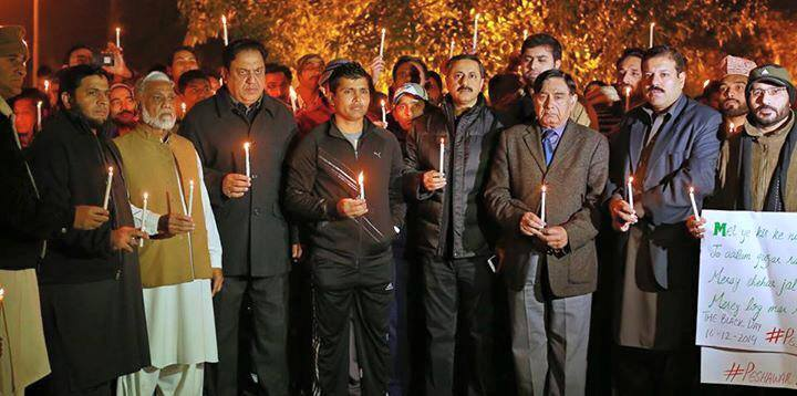 Kamran Akmal Lighting Candles In Peshawar