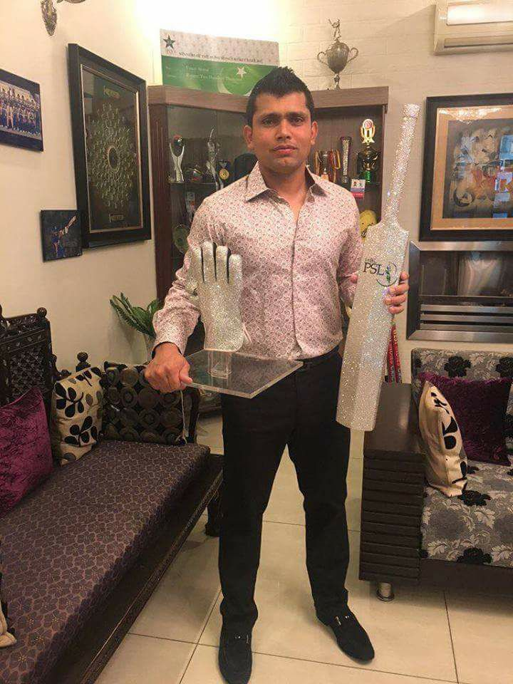 Kamran Akmal Pictured With His Trophies