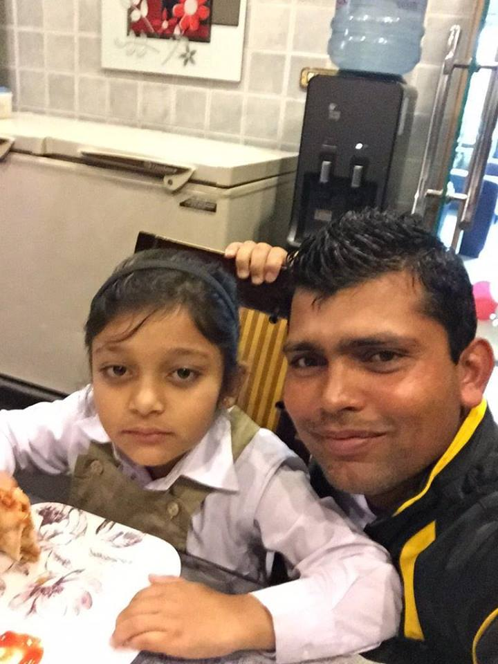 Kamran Akmal With His Daughter Laiba