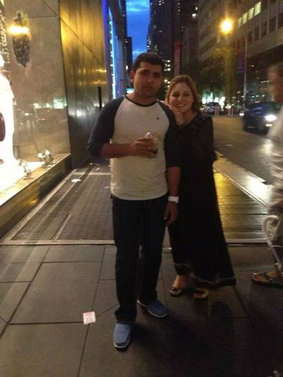 Kamran Akmal With His Wife Aiza