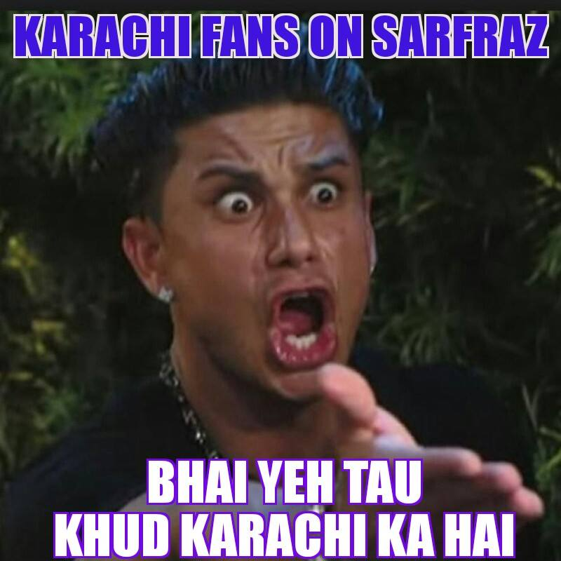 Karachi Fanz On Sarfraz
