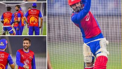 Karachi Kings Practice Session At Shaikh Zaid Cricket Stadium, Abu Dhabi.