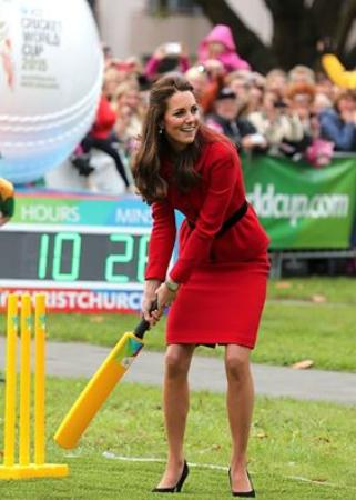 Kate Middleton Takes Part In Friendly Game In Christchurch