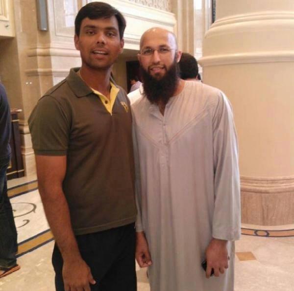 Khurram Manzoor With Hashim Amla