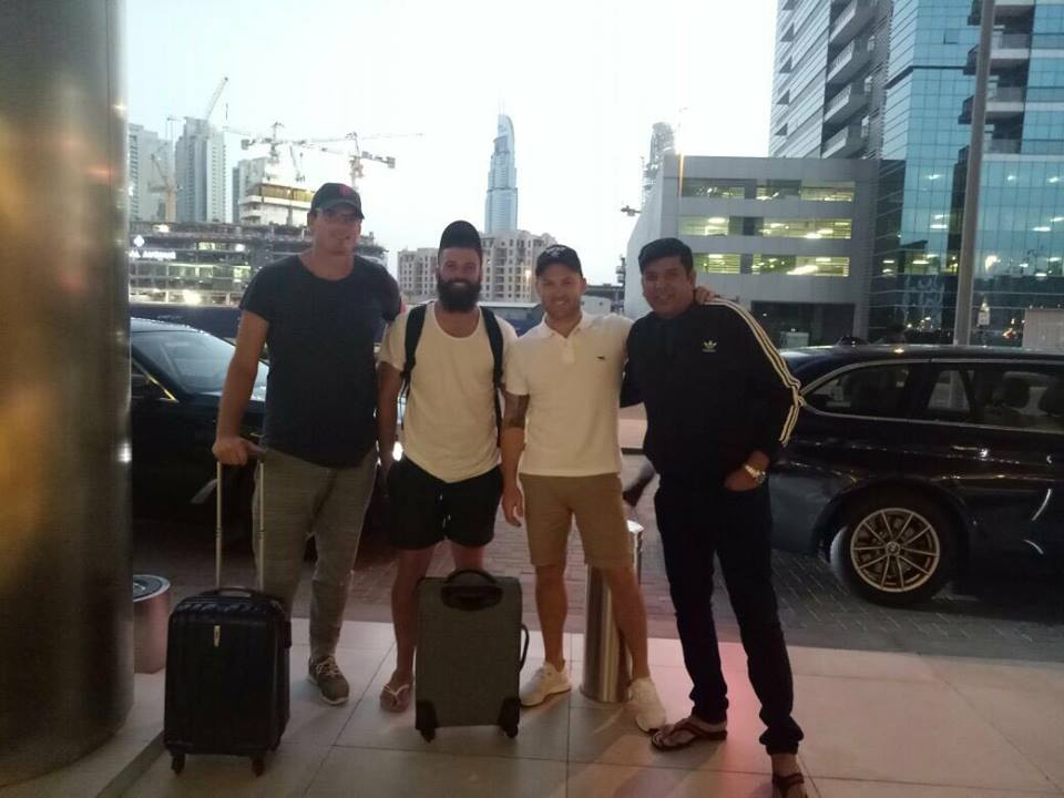 Kyle Mills, Anton Devcich & McCullum Arrived In Dubai For PSL