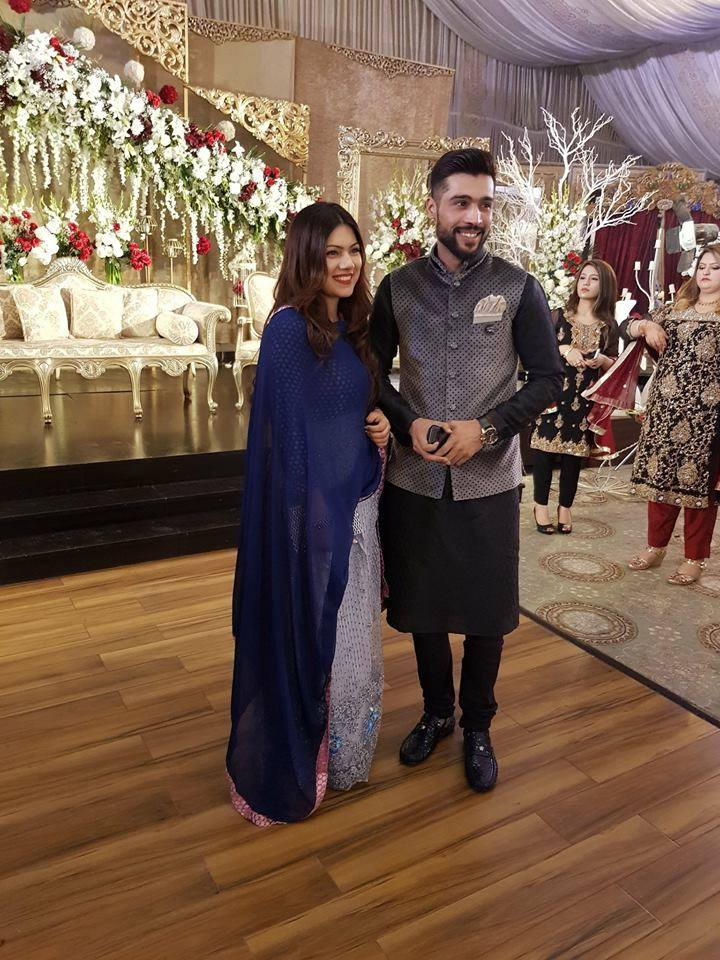 Latest Click Of Mohammad Amir With His Wife
