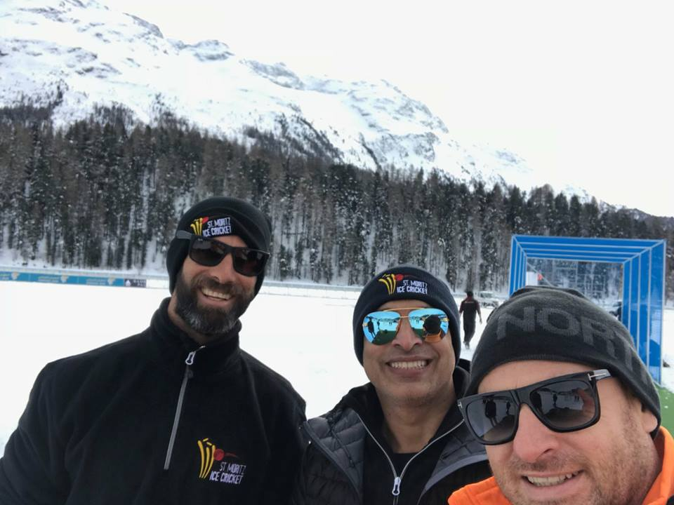 Legends Played Cricket On Ice In Switzerland