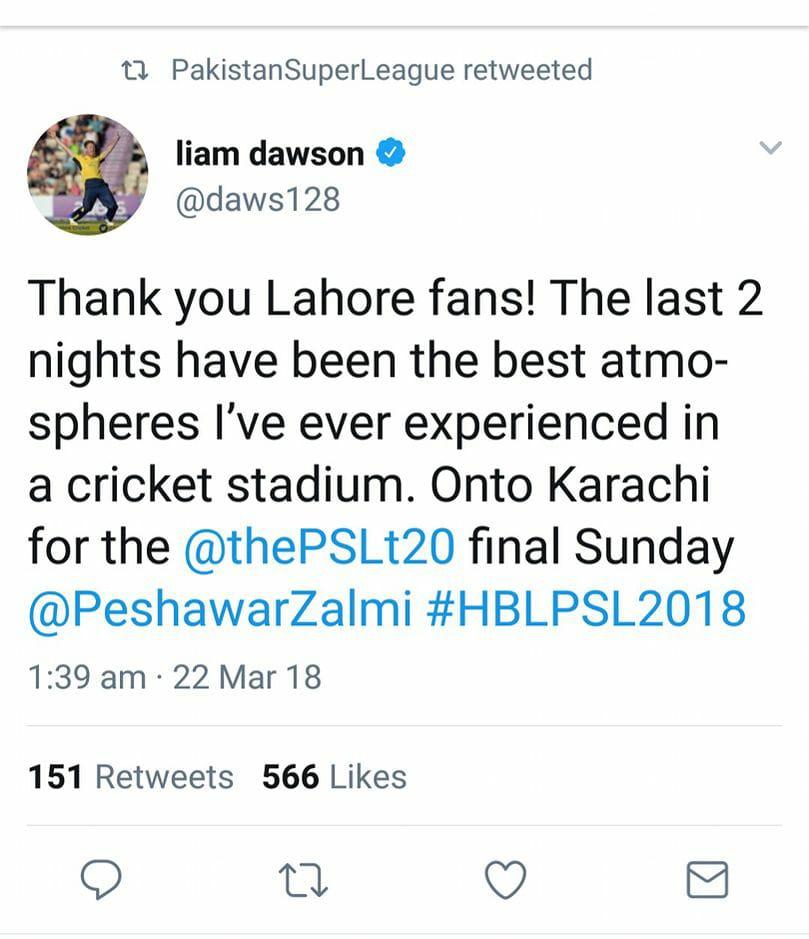 Liam Dawson Tweets
