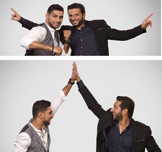 Loving This Shot Of Shahid Afridi & Amir Khan