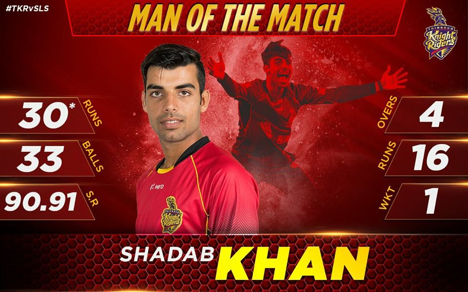 Man Of The Match Shadab Khan