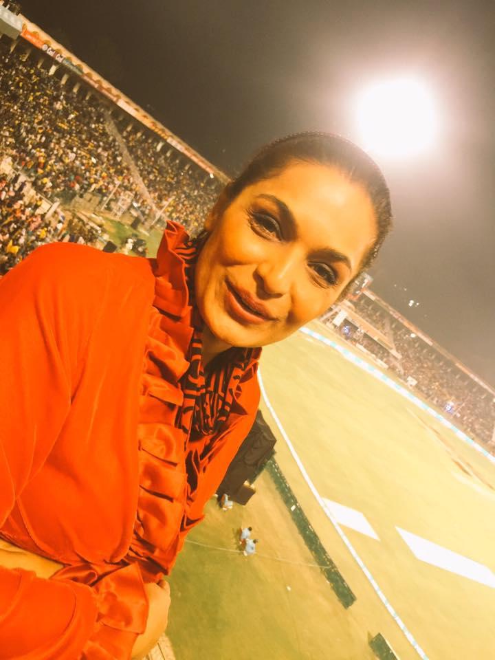 Meera At PSL Final