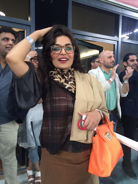 Meera During Peshawar Zalmi Match