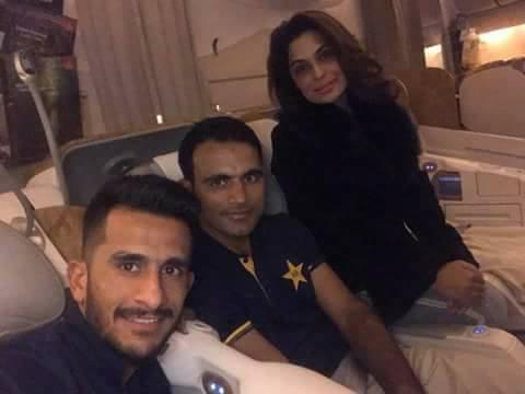 Meera With Fakhar Zaman & Hasan Ali