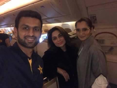 Meera With Sania & Shoaib