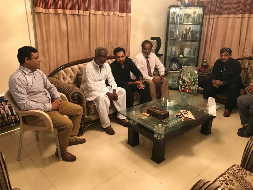 Members Delegation Of PDCA Meet Sarfraz Ahmed At His Home