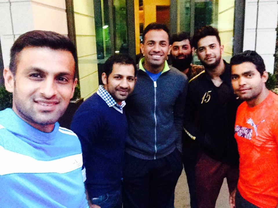 Members of Pakistan Cricket team ready to go for dinner