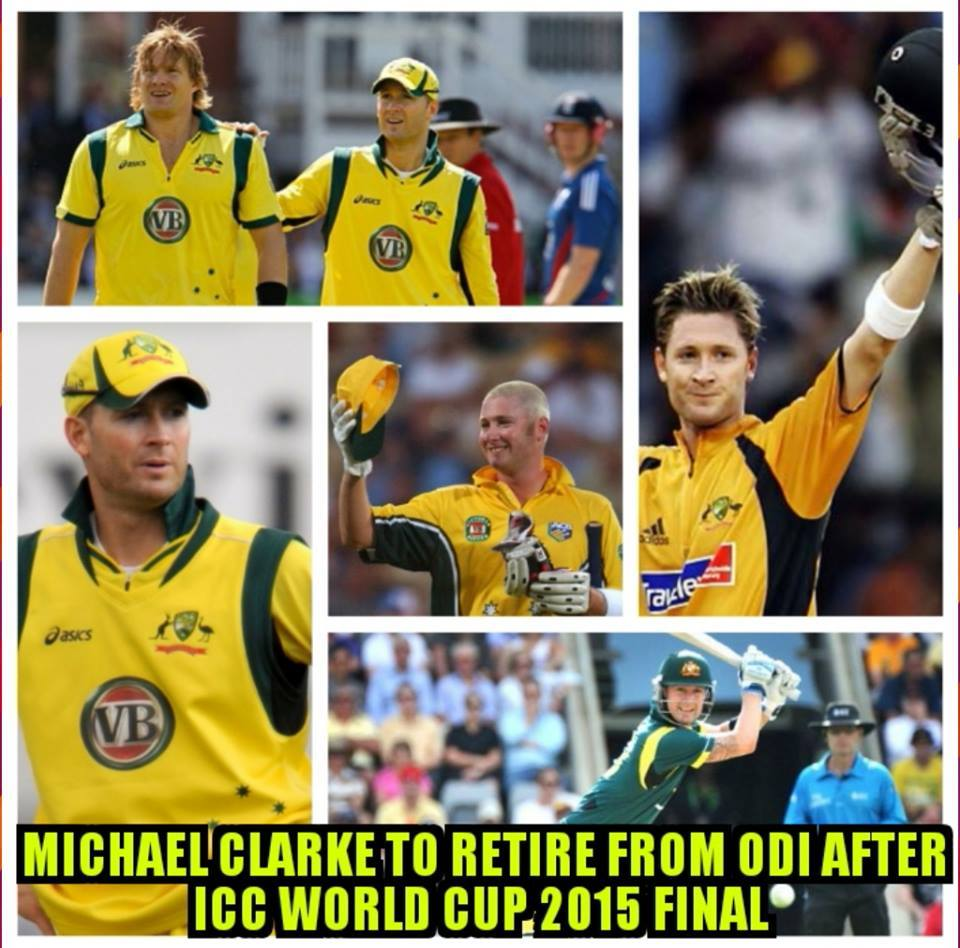 Michael Clarke Announces Retirement From ODI After WC 2015 Final