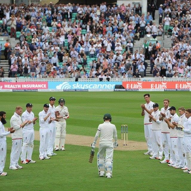 Michael Clarke Given A Guard Of Honour By England Team