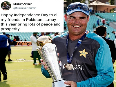Mickey Arthur Wishes Independence Day To Pakistan