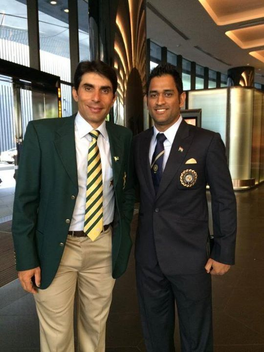 Misbah And Dhoni At Opening Ceremony Of World Cup 2015