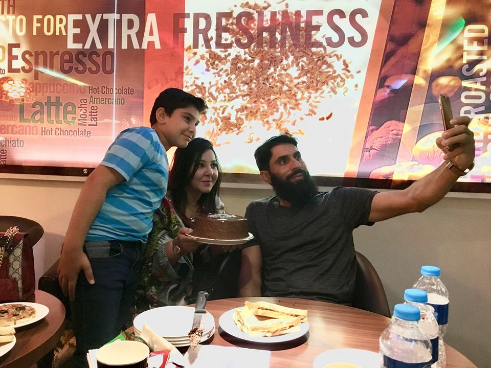 Misbah Celebrating His Birthday With Family