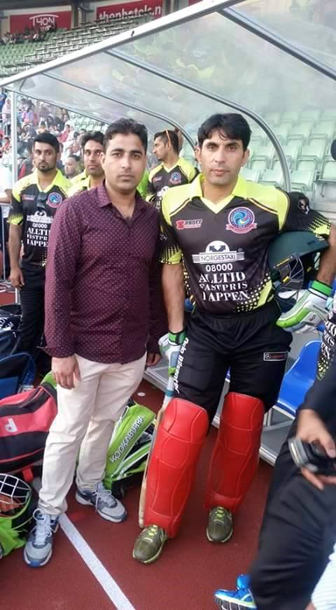 Misbah In Norway For Charity Match