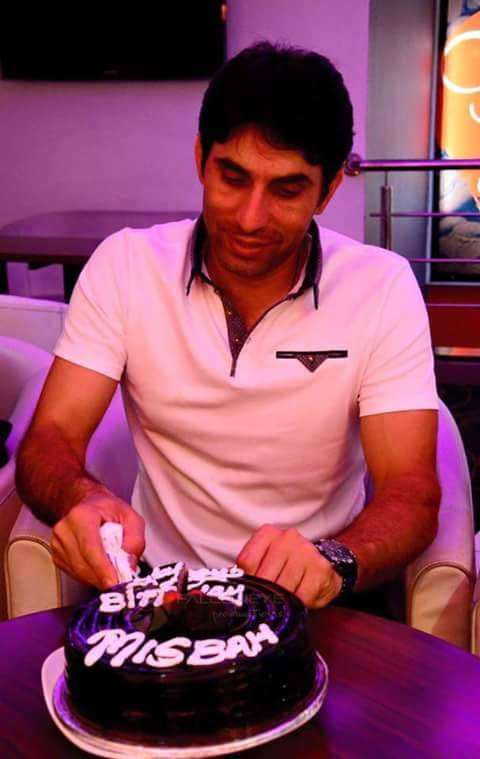 Misbah-Ul-Haq Celebrated His Birthday