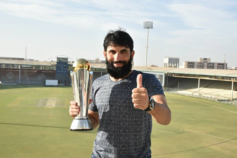 Misbah With Champions Trophy