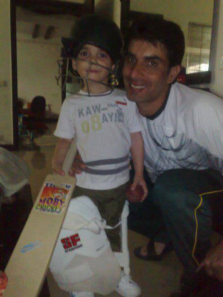 Misbah With His Son