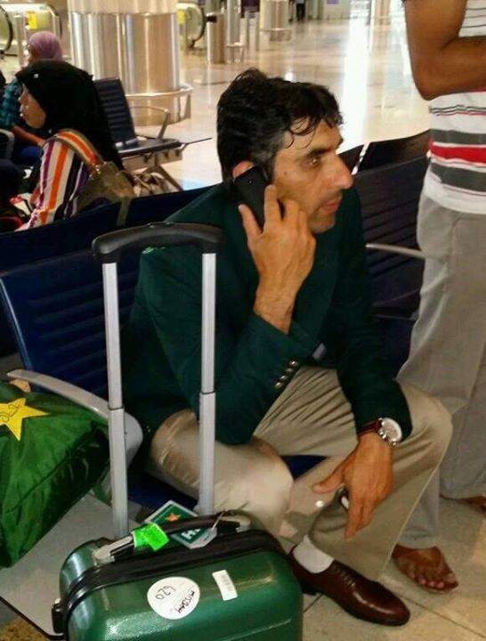 Misbah-ul-Haq At Dubai Airport