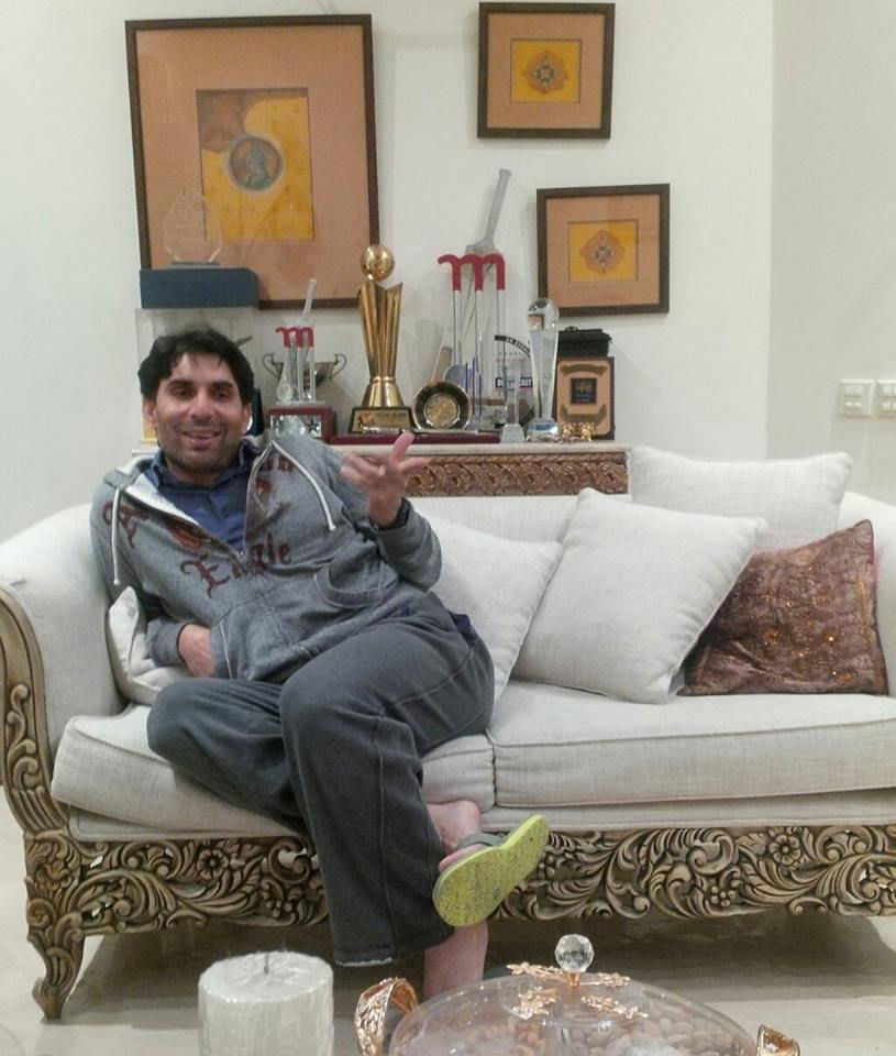 Misbah-ul-Haq At His Home In Fun Mood