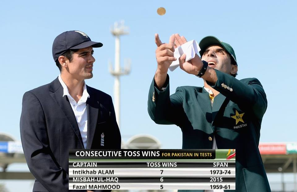 Misbah-ul-Haq Wins 6th Consecutive Toss In Test