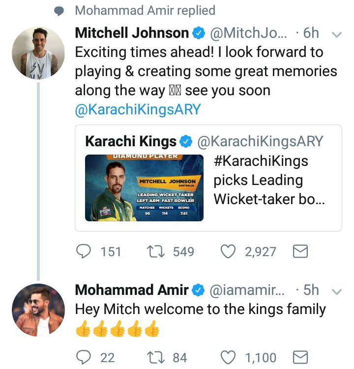 Mitchel Johnson Tweeted After PSL 3 Drafts