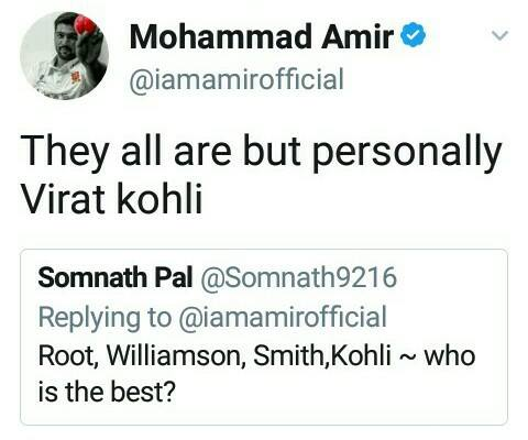 Mohammad Amir Tweet About Kohli