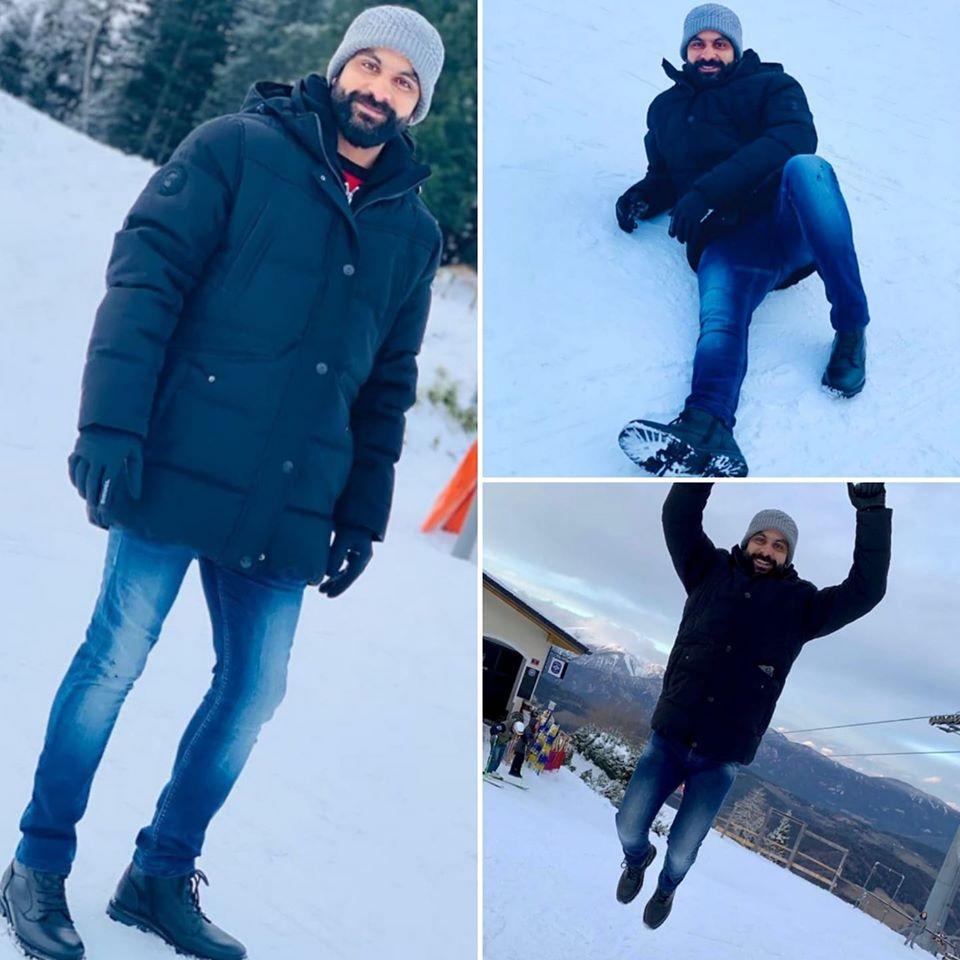 Mohammad Hafeez Enjoying Winter Season In Vienna