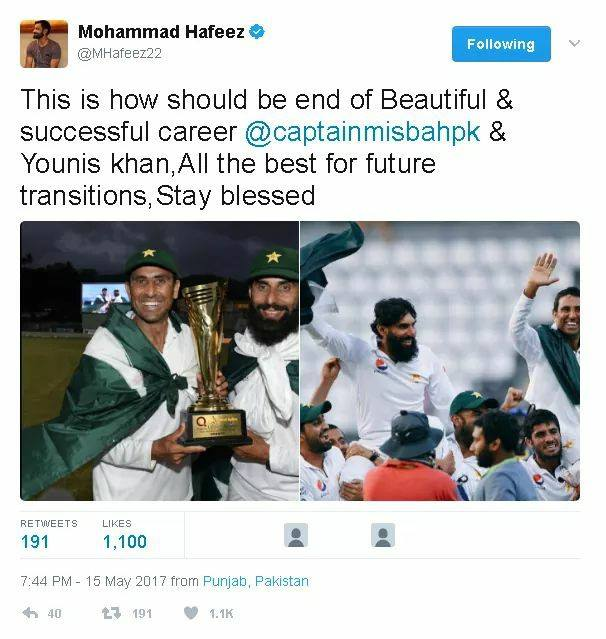 Mohammad Hafeez Tweet