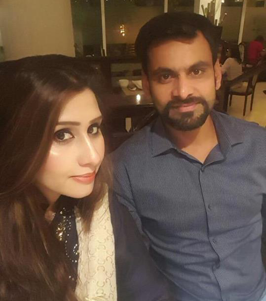 Mohammad Hafeez With Wife Spotted In Restaurant