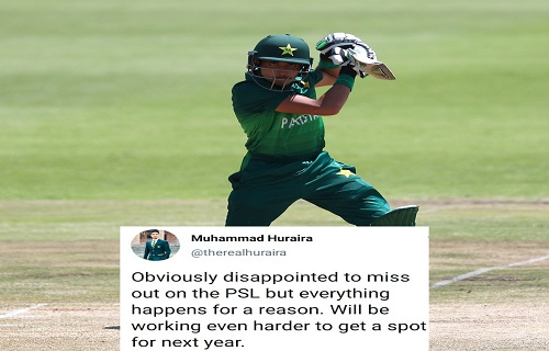 Mohammad Hurraira Shows Disappointment For Not Being Picked In PSL 2021