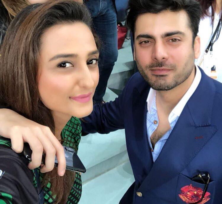 Momal Shiekh Spotted With Fawad Khan At PSL