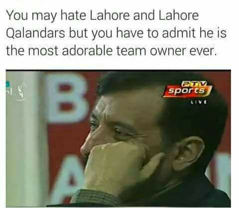 Most Adorable Team Owner - Lahore Qalandars