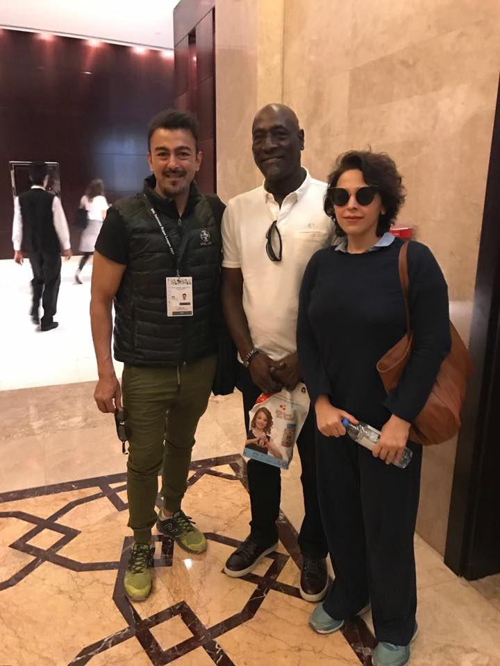 Mr and Mrs Shaan Shahid With Viv Richards