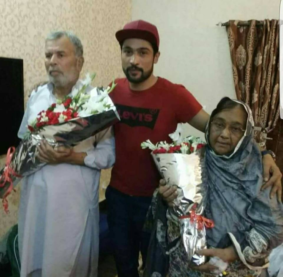 Muhammad Amir With His Mother & Father
